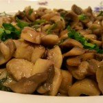 Plate of mushrooms